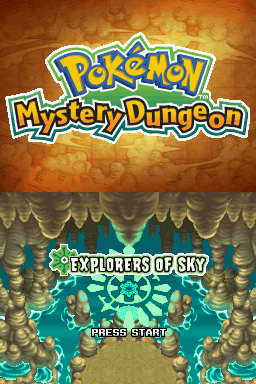 Pokémon Mystery Dungeon Explorers of Sky title