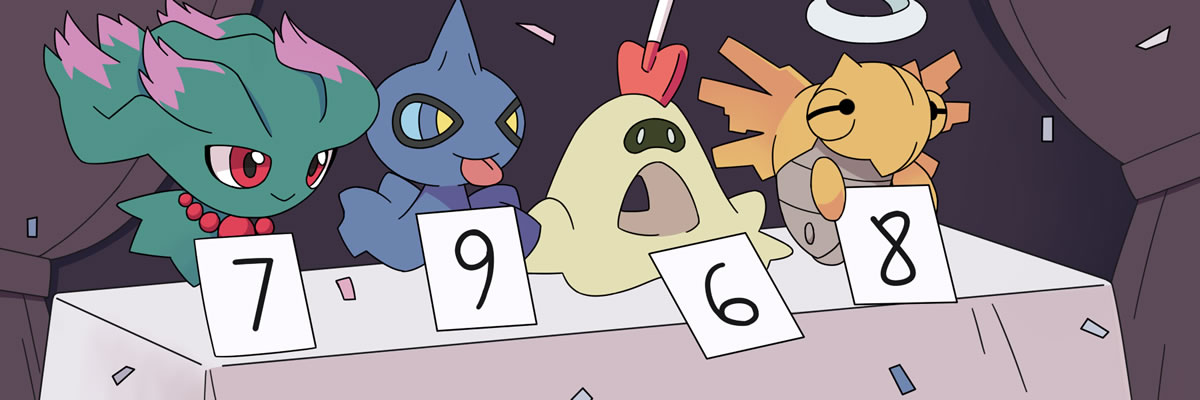 Pokemon Judges giving their review scores