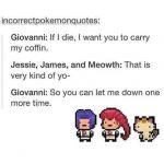 Giovanni if I die