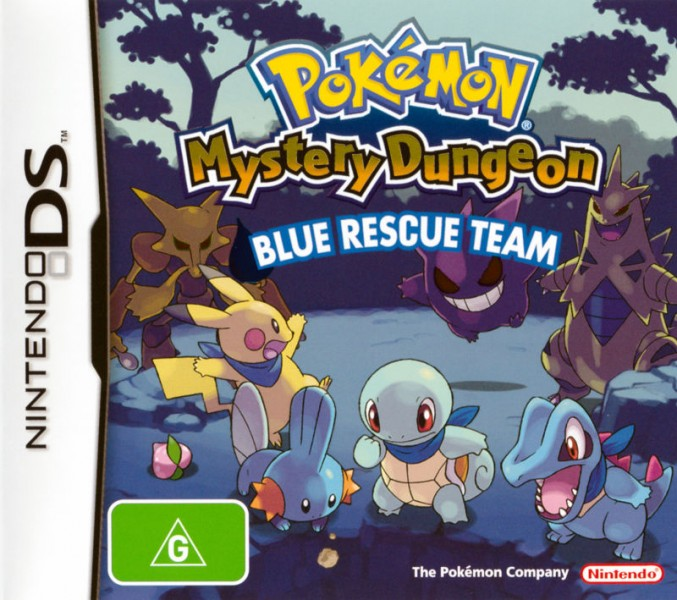 70534 pokemon mystery dungeon blue rescue team nintendo ds front cover