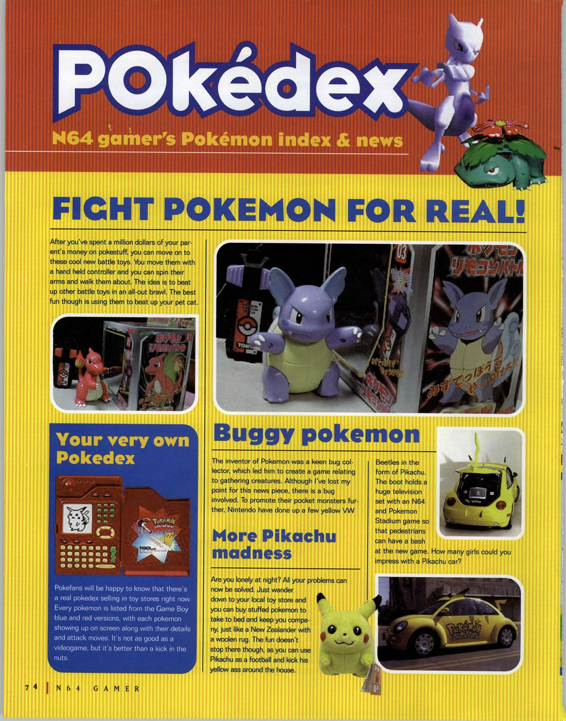 N64 Gamer Aus Vol28 June 2000 Pokedex Pokemon Feature