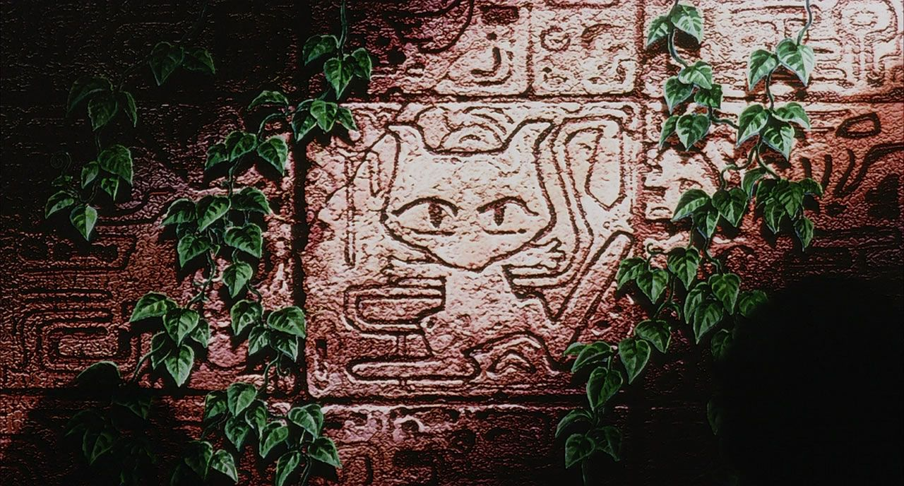 4 An Ancient Plaque of Mew Within its Shrine