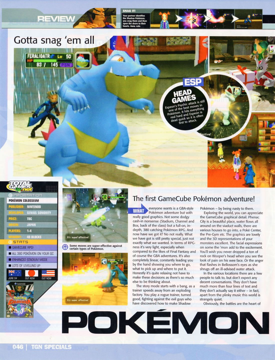 Pokemon Colosseum Issue 3 Aus Review