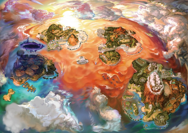 Alola Map Clouds Gathering