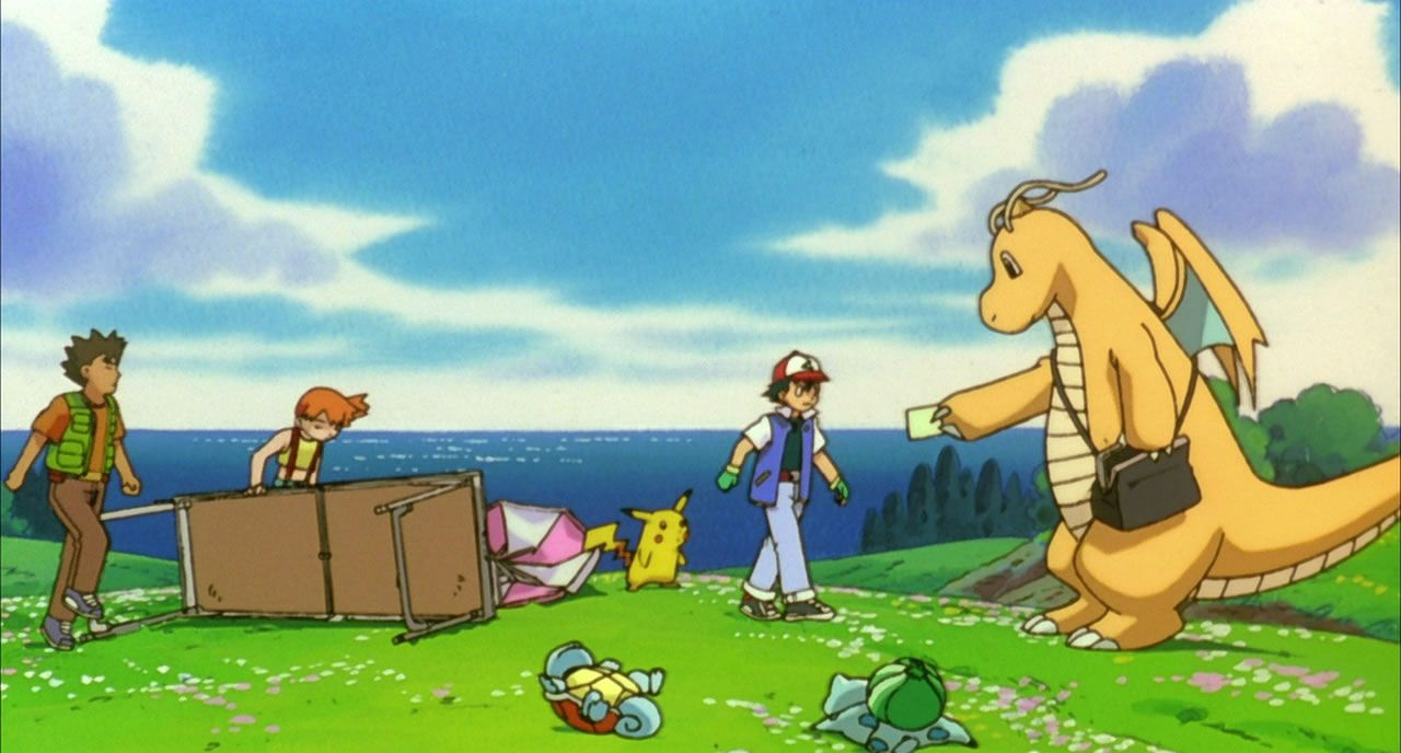 9 Dragonite delivers the invitation and knocks everything over