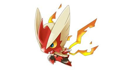 Blaziken, toy form!