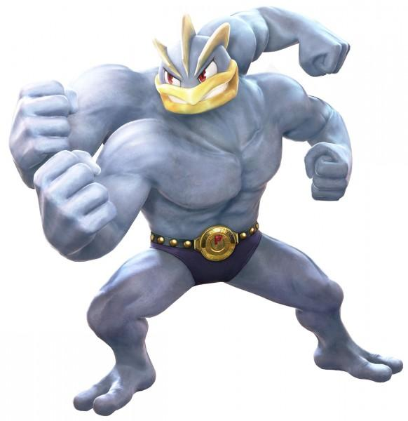 Machamp, the hero of the Pokkén Tournament trailer