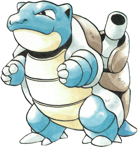 Blastoise Artwork from Pokemon Blue