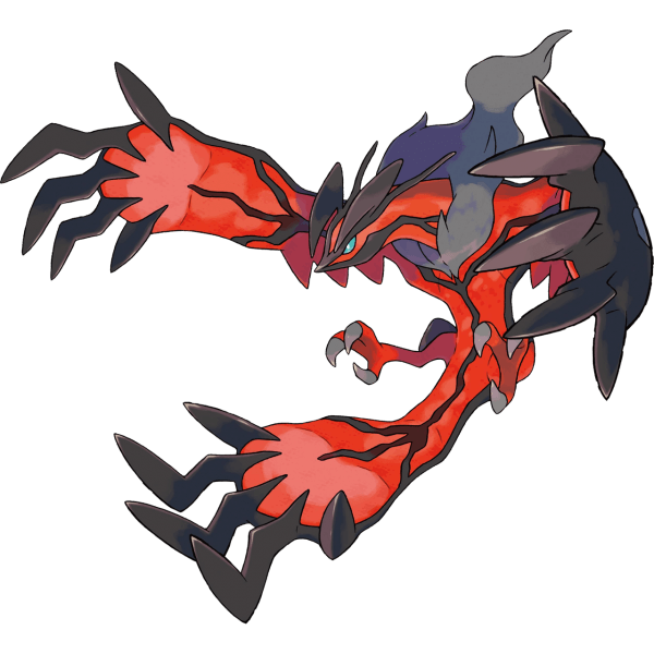 Yveltal, the legendary mascot of Pokemon Y