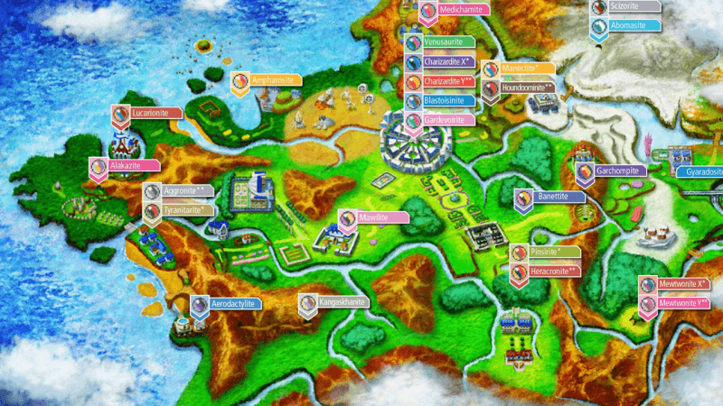 Kalos Mega Stone Locations