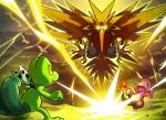 VS Zapdos Pokemon Mystery Dungeon Red and Blue Rescue Teams