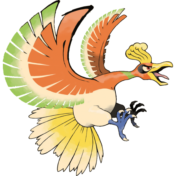 Ho-Oh, the Legendary Mascot of HeartGold