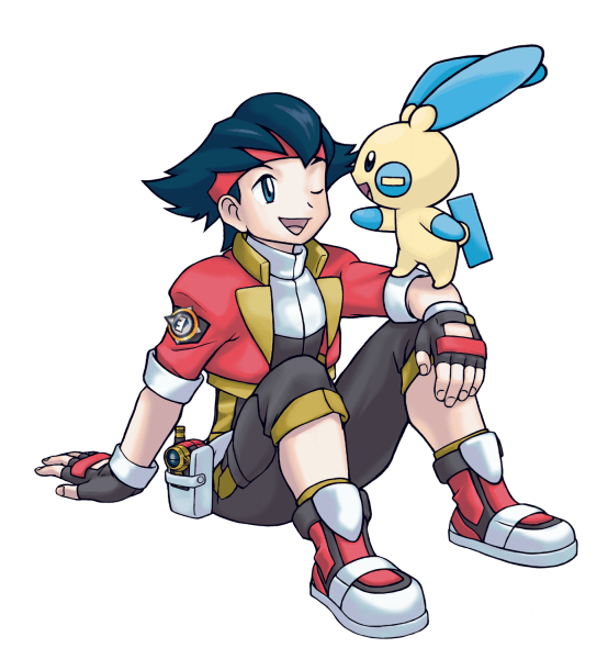 A Pokemon Ranger and his partner Pokemon