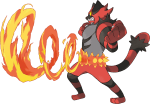 Sun Moon Incineroar Z Move artwork