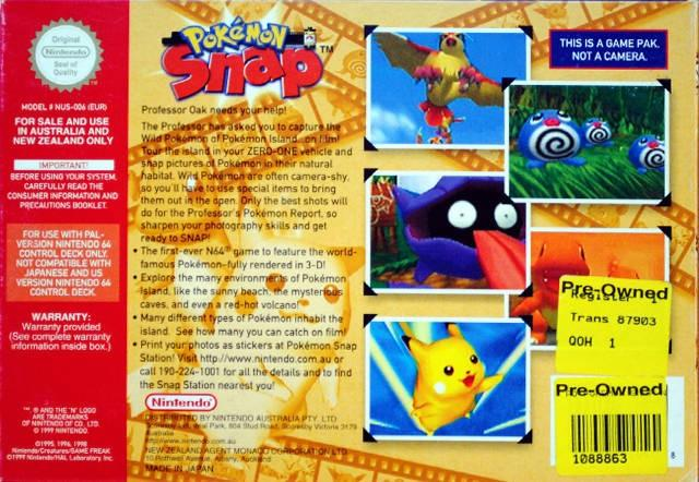 pokemon snap aus back cover