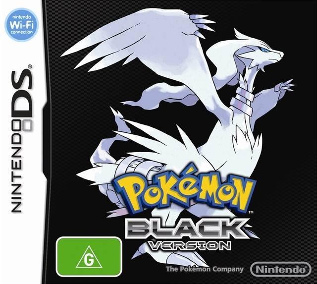 pokemon black front cover aus