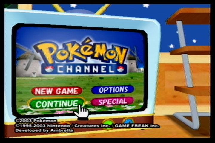 100723 pokemon channel gamecube screenshot title screen
