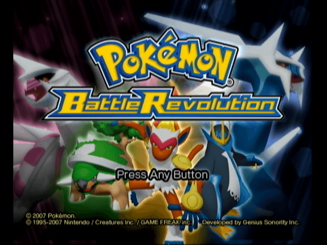 Pokemon Battle Revolution title screen