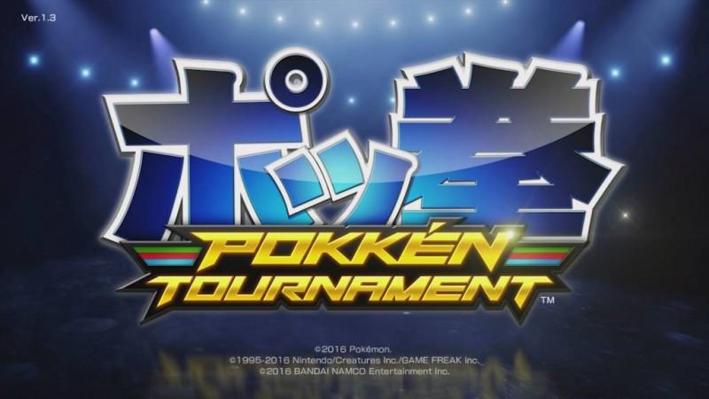 Pokken Tournament title screen