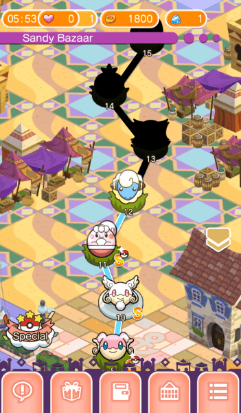 799727 pokemon shuffle android screenshot available stages on the