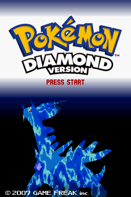 Pokemon Diamond title screen