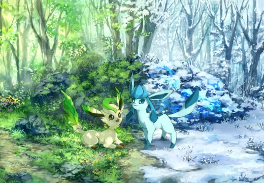 Glaceon and Leafeon and their worlds meet