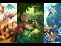 Fire, Grass and Water types Pokemon Wallpaper