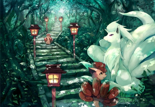 Vulpix and Ninetales