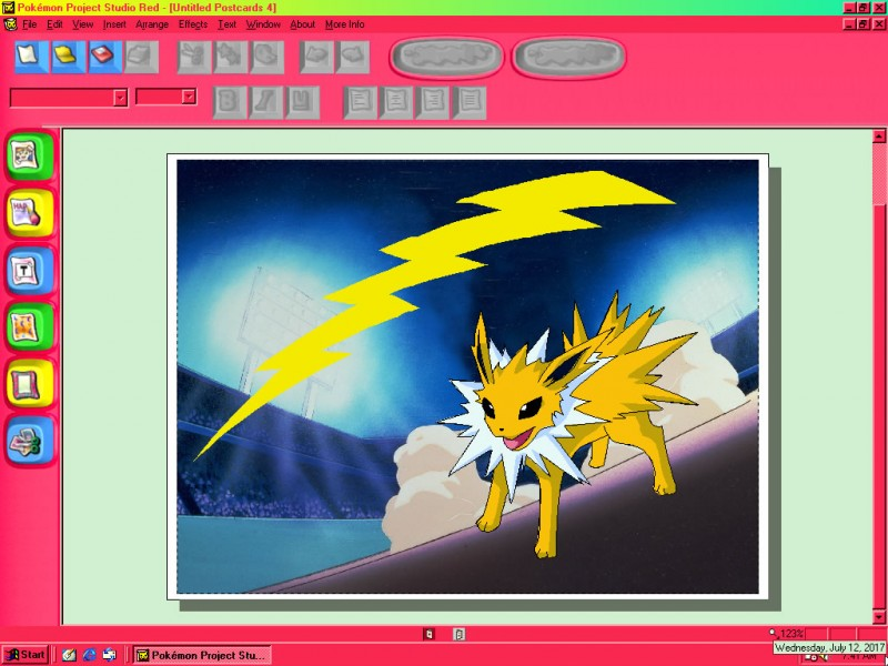 A Jolteon Postcard