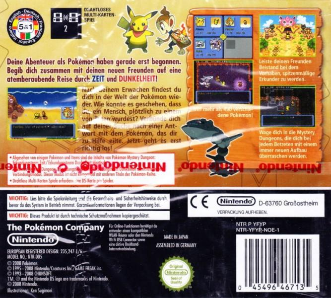 ger pokemon mystery dungeon explorers of darkness nintendo ds back cover